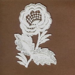 White Floral Cotton Venice Applique   101