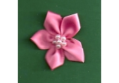 Pink Floral /w Beads Applique 130