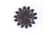 Black Irradecent Floral Venice Appliques  138