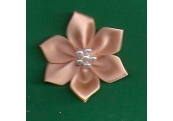 Peach Floral /w Beads Applique 146
