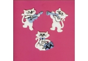 "3 - 2""  Cotton Embroidered Appliques Kittens  158"