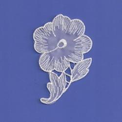 White Sheer Floral Applique  165