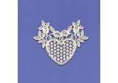 Ivory Rayon Venice Heart Applique  167