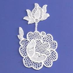 Ivory Venice Rose Applique  170