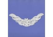 Ivory Rayon Venice Heart Applique  192