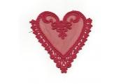 Red Venice Heart Applique  210