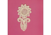 Ecru Venice Sun Flower Applique  219