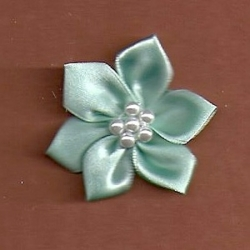 Mint Green Floral /w Beads Applique 247