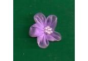 Pale Lavender Organza/w Beads Applique 249