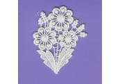 White Floral Rayon Venice Applique   272