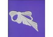 White Bow Rayon Venice Applique    284