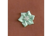 Mint Green Floral /w Beads Applique  286