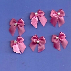 6 - Small Rose Bows/w Beads 287