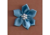 Blue Floral /w Beads Applique 319