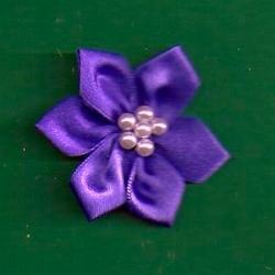 Purple Floral /w Beads Applique 329