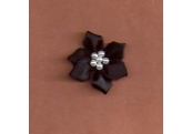 Black Floral /w Beads Applique 338