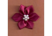 Burgundy Floral /w Beads Applique 367