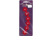 Red  Sequin  Iron On Applique  39X