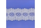 "4 1/3 Yds  3 3/4"" White Beading Lace  100X"
