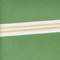 "8 Yds  1 1/4"" Conso White & Gold Braid  705X"