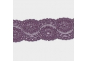 "4 3/4 Yds 2 3/4"" Plum Stretch Lace 712X"