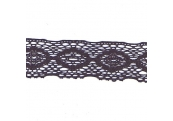 """2 2/3 Yds  2 5/8""""  Black Crochet Cluny Lace   729X"""