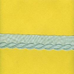 "2 1/2 Yds   1 3/4""  Blue Cotton Embroidery    734X"