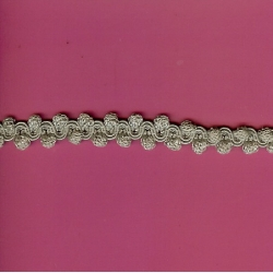 "3 3/4 Yds   5/8""   Grey Braid Trim   739x"
