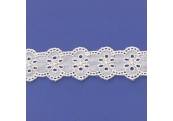 "4 1/4 Yds 1  3/8""    Ivory Embroidery Eyelet Trim   744X"