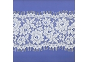 "3 1/4 Yds 5 1/2""  White Poly Eyelash Lace  765X"