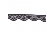 "5 Yds  1""  Black Scalloped Beading Lace  1381"