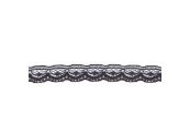 """5 Yds  3/8""""  Tiny  Black Lace    1701"""