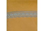 """5 Yds   7/8""""    Blue Floral Lace   1835"""