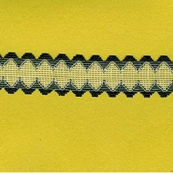 """5 Yds    1 3/8""""   Soft Navy/White Net Lace 1975"""