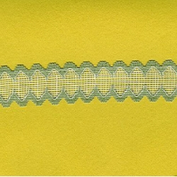 "5 Yds    1 3/8""    Soft Green/White Net Lace 1978"