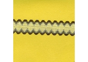 """5 Yds    1 3/8""""   Soft Brown/White Net Lace  1979"""