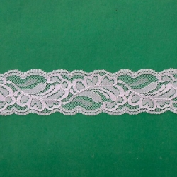 """5 Yds  1 7/8""""  Pink Lace  4107"""