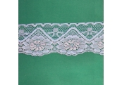 """5 Yds  3 1/8"""" Baby Blue/Pink Scalloped Lace  4306"""