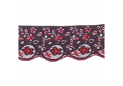 "9 Yds 3 1/4""  Black/Red  Scalloped Lace   4308"