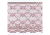 "50 Yds  7""   Taupe/Pink Scalloped Lace  4310"