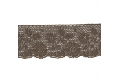 """5 Yds  3 1/2""""  Brown Lace   4371"""