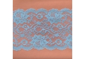 """50 Yds  6""""  Spool Chambray Blue Lace    4458"""