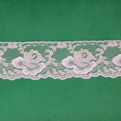 """5 Yds   2 3/8""""  Pink Lace  4570"""