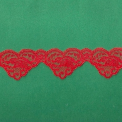 """100 Yds  1 3/4""""  Spool Red Lace  4612"""