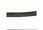 "8 3/4 Yds   3/4""    Black Crochet Cluny    1018"