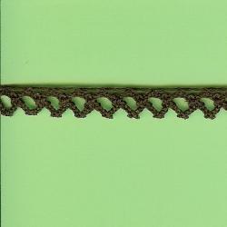 "5 Yds   3/8""    Brown Crochet Cluny Trim   1074"