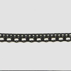 "5 Yds   5/8""    Black Crochet Cluny     1080"