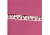"5 Yds 5/8""  Ivory Crochet Cluny Beading Lace   1286"