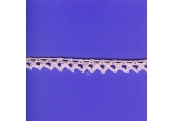 "5 Yds  5/16""   Baby Pink Crochet Cluny   1464"