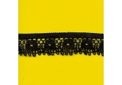 """5 Yds  3/4""""  Black Crochet Cluny Lace    1508"""